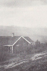 Delius's house at Høifagerli, Lesjaskog, Norway, looking out over Gudbrandsdalen