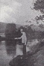 Delius fishing in Norway, summer 1921